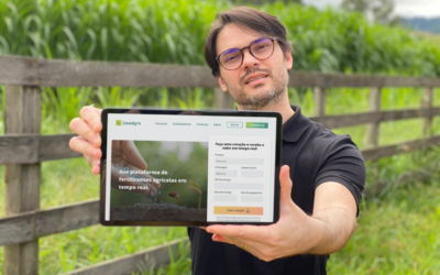 Startup cria única plataforma online de comercialização de fertilizantes em tempo real do país
