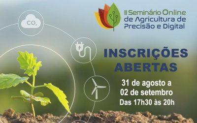Evento online aborda pesquisas e aplicações de agricultura de precisão e digital
