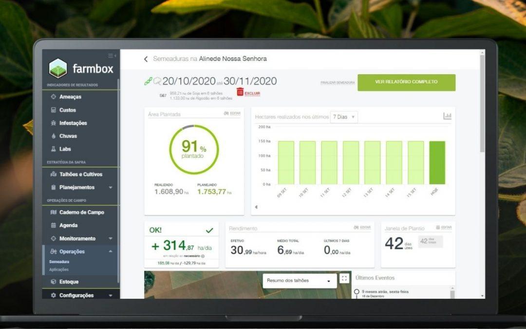 Com agricultura digital é possível planejar o plantio, tratamento da semente e compra de insumos em uma única plataforma